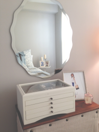A peek into my bedroom.. can't forget my beloved Brittany Fuson print!